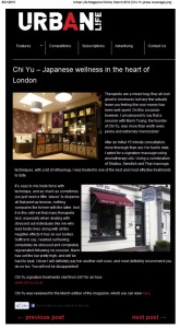 Urban Life Magazine Online, March 2012 (Chi-Yu press coverage)