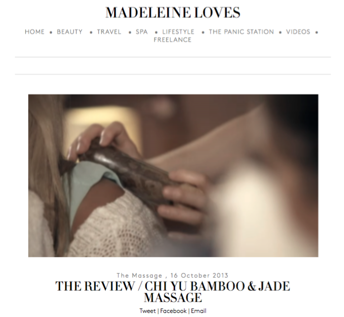 Madeleine Loves web screen shot