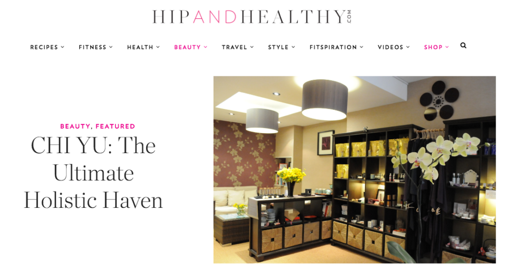 Chi Yu hipand healthy article web screenshot