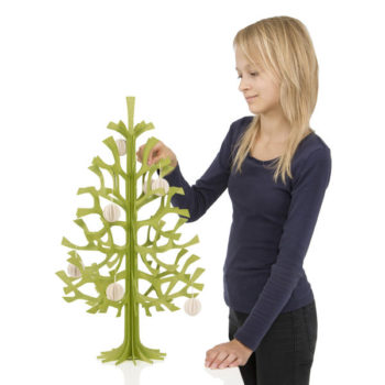 Lovi 60cm Spruce Tree with person and baubles