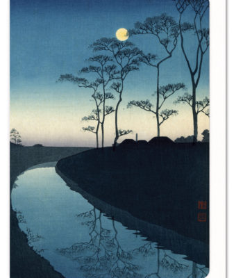 Canal by Moonlight (Blue Version) Ezen greeting card 5060378040690 LDS_9