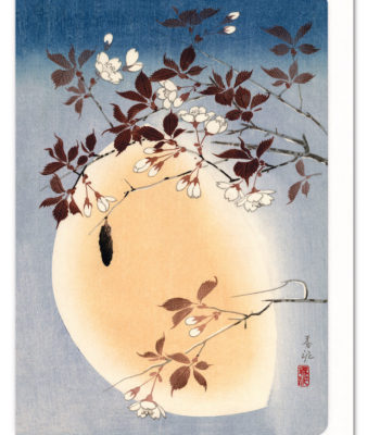 Cherry Blossom and Full Moon Ezen greeting card 5060378040294 FLW_8