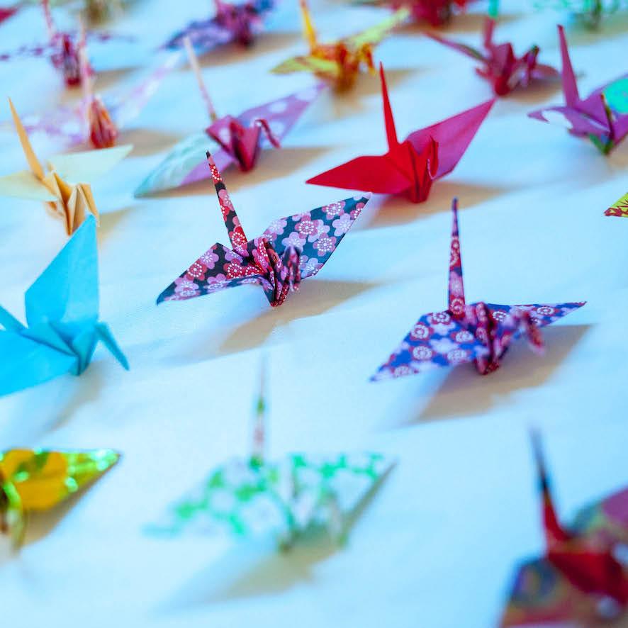 Origami Crane 1920*1233 transprent Png Free Download - Art Paper ... | 886x886