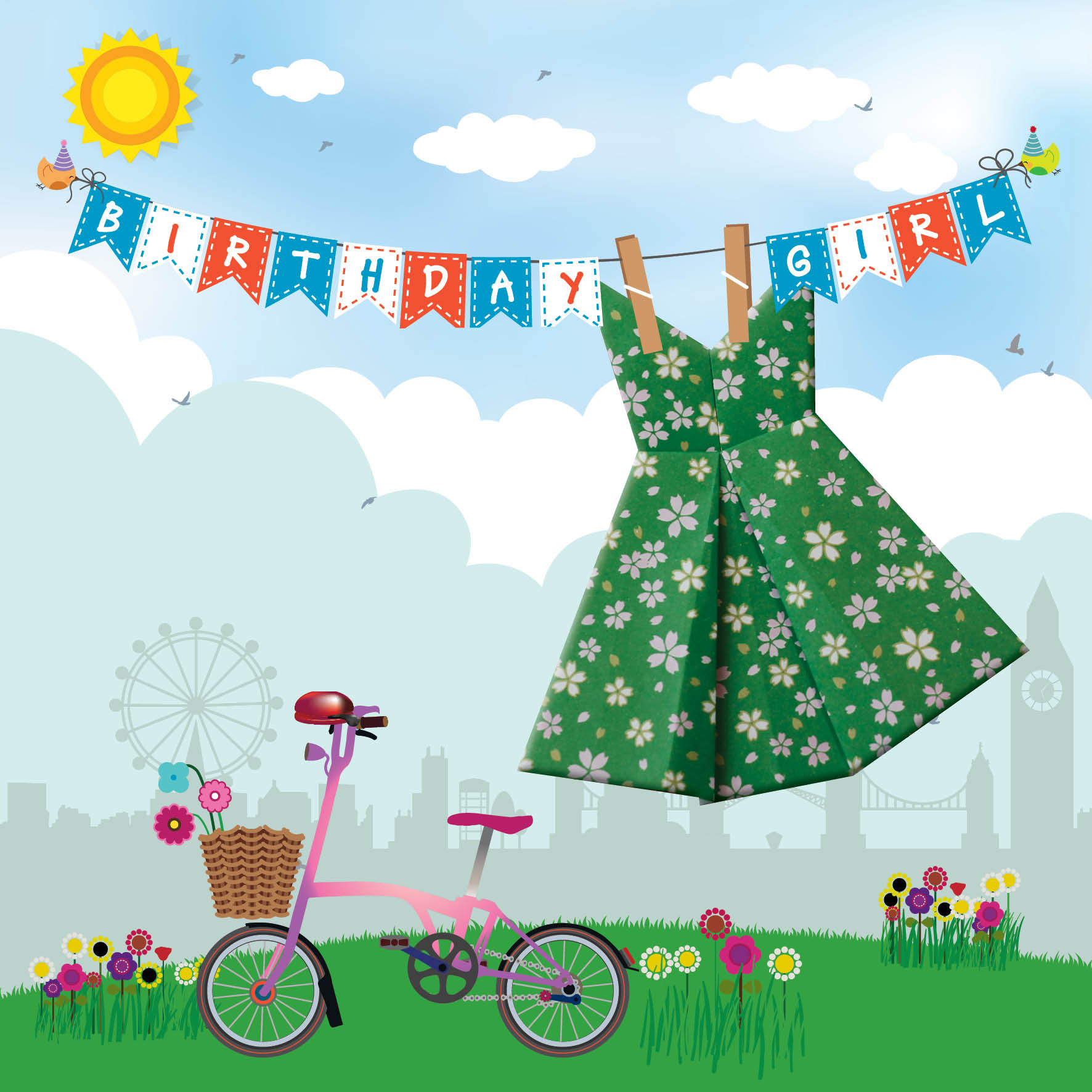 Origami Dress Birthday Card | kittykatkards | Flickr | 1772x1772