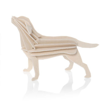 Lovi labrador-16cm-natural-wood