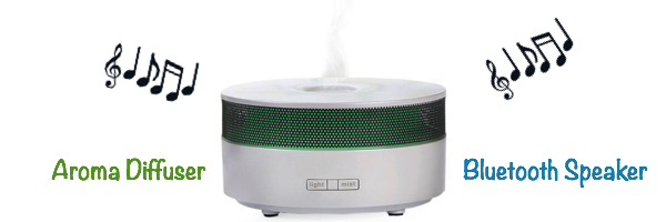 Bluetooth speaker and aroma diffuser wide