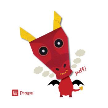 ORG07005-Origami-Dragon-Card