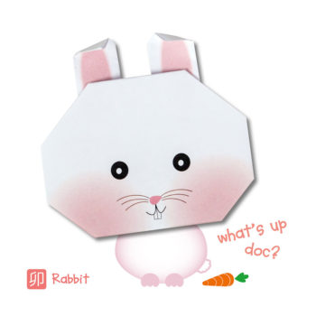 ORG07007-Origami-Rabbit-Card