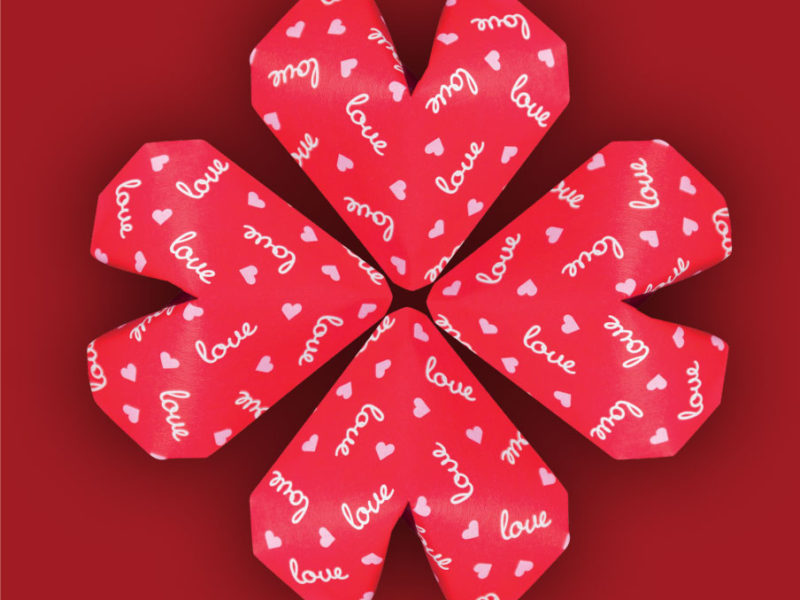 Origami Heart Collection 4 Puffy Red Hearts Chi Yu