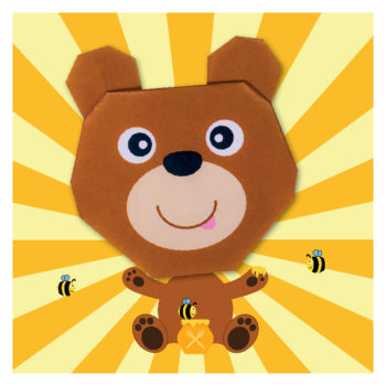 ORG07014 Origami Brown Bear_hr