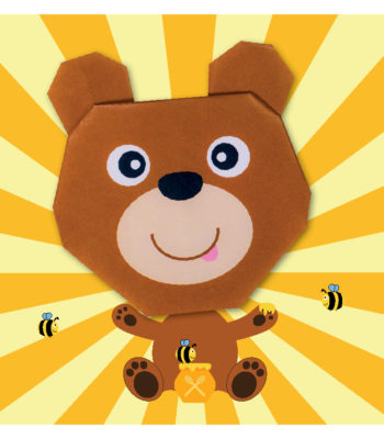 ORG07014 Origami Brown Bear_hr