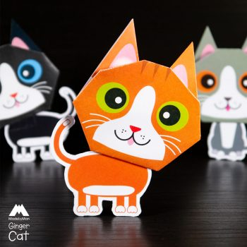 made-by-man-we-three-cats-origami-kit-ginger-cat