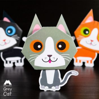 made-by-man-we-three-cats-origami-kit-grey-cat
