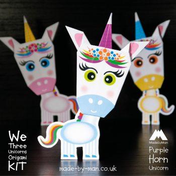 We-three-unicorns-origami-kit-blue-Horn-Unicorn