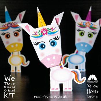 We-three-unicorns-origami-kit-Yellow-Horn-Unicorn
