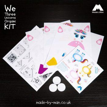 made-by-man-we-three-unicorn-origami-kit-layout